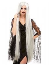Extra Long Witch Wig in Grey